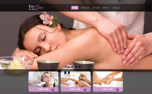 Elegant Design for Spa Salon Site