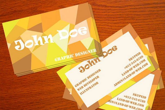 Positive Poly-Inspired Business Card PSD Template