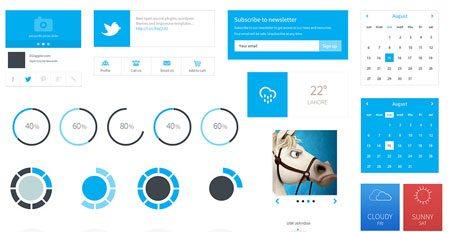 Free Flat User Interface Kit