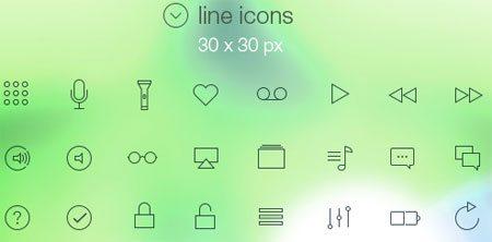 Tab Bar Icons iOS 7 Vol2