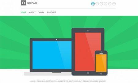 Display – Web Template
