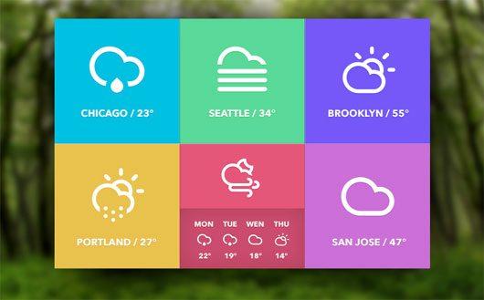Weather Widget (freebie) by Dylan Opet