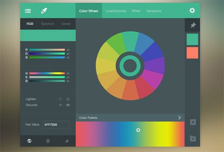 Color Picker UI (FREE PSD) by Bluroon