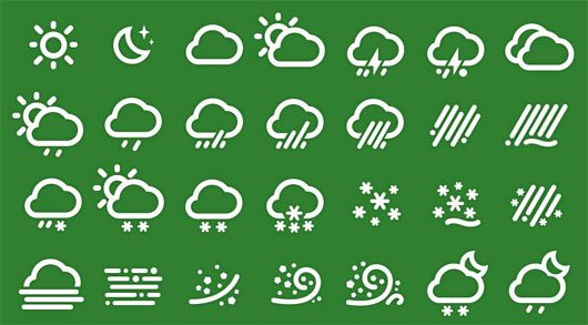 Weather Icons PSD by 夹克