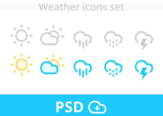 Weather Icons set psd by AR Rehman