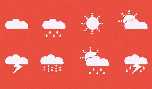Weather Icons + psd by Paweł Pniewski