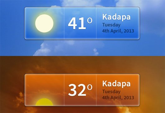 Weather Widget PSD