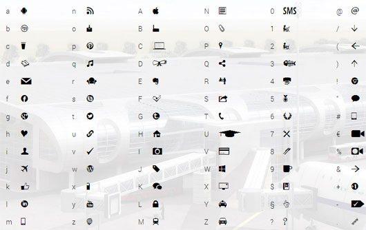 Citynomade icons webfont