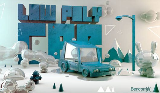LOW POLY CAR by Miguel Bencomo