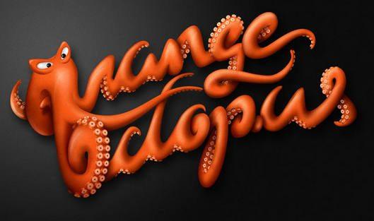 Orange Octopus by Jackson Alves