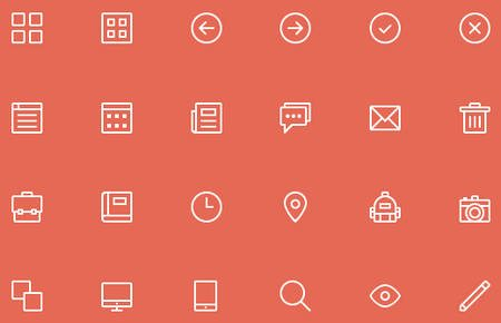 24 Free Skinny Icons by Riley Tippetts