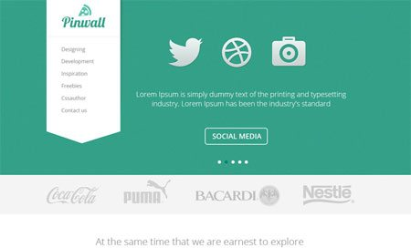 Pinwall – Modern Website Template PSD