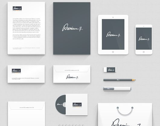 Corporate Identity Mockup by wassim wassim
