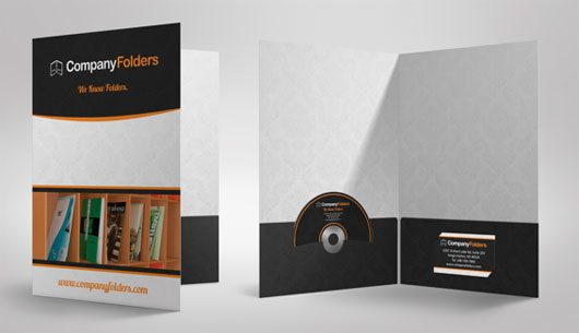 Presentation Folder Mockup Template by CF Folder Designers