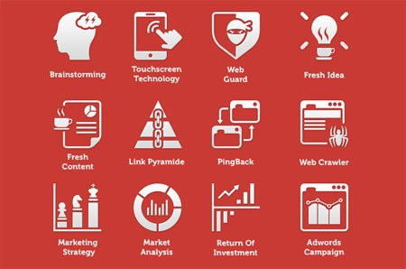 100 Fresh SEO Icons by Azis Hertanto
