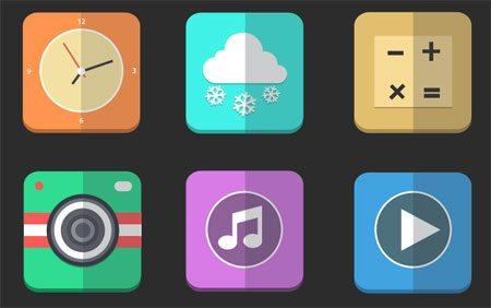 Flat icons PSD by Simeon Odiaka K