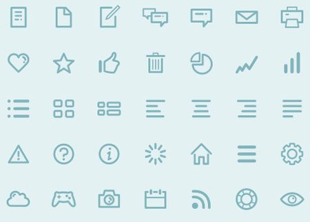 Dripicons (Free Iconset) - PSD, Illustrator, Webfont by Amit Jakhu