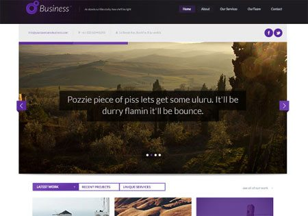 Business Themed PSD Website Design
