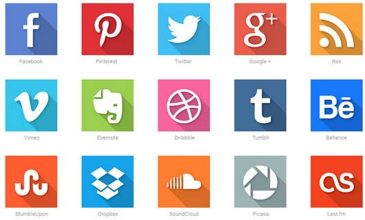 40 Social Media Flat Icons by Raul Taciu