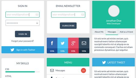 Free Web User Interface Design Kit PSD