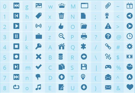 Shock Icon Font (742 icons free for commercial)