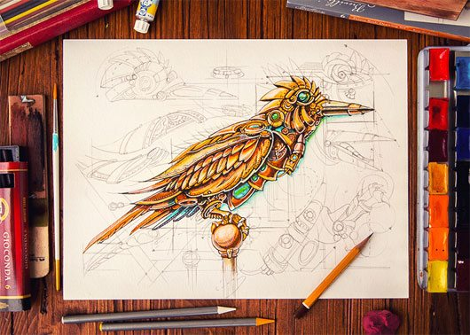 Steampunk Bird by Mike | Creative Mints
