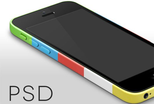iPhone 5c Template by Ben Lee