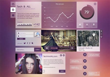"UI Components ""Purpel City""  by R R"