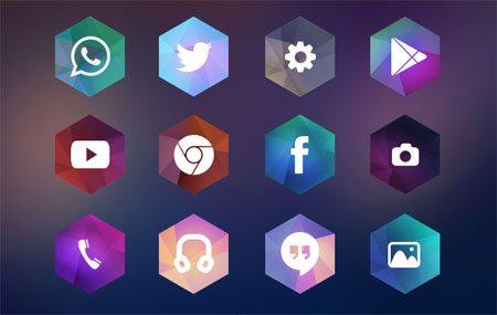 Hexagon Android Icon Theme by Kadir