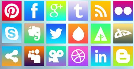 iOS7-inspired Social Media Icons