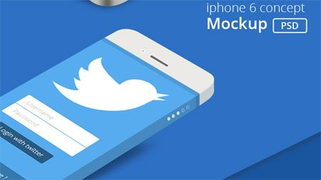 Iphone 6 Concept Mockup Psd by Arun