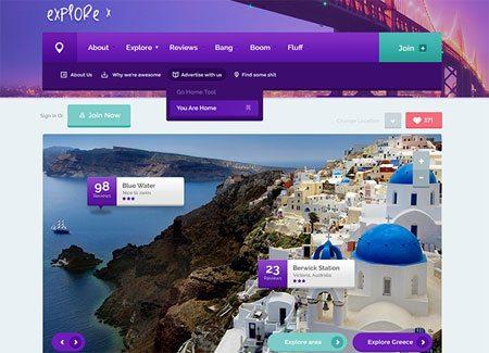 Funky & creative website PSD template