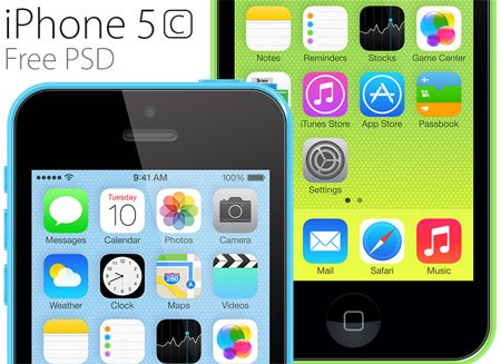 iPhone 5c PSD by Howard Pinsky