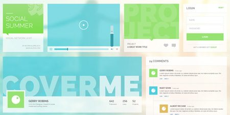 Social Summer UI Kit by Rotem Elimelech