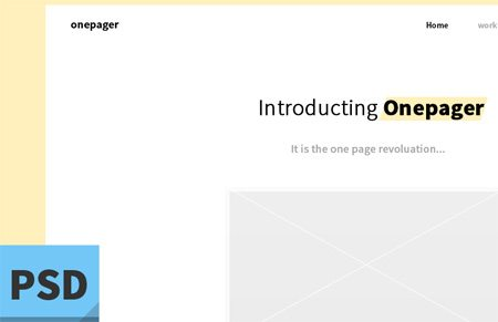 simple one page design by Junjie Li