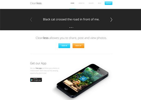 Cleanless - FREE PSD TEMPLATE by MatijaART