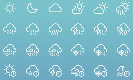 Weather icons by heeyeun