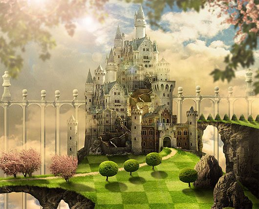 Create a Fantasy Castle in Photoshop Inspired by The Movie Alice in Wonderland