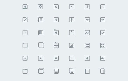 36 Thinicons Free PSD by Rovane Durso