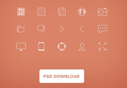 thin icons psd. by Gustav Ågren