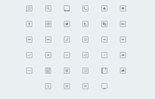 34 Thinicons Free Psd by Alexandru Stoica