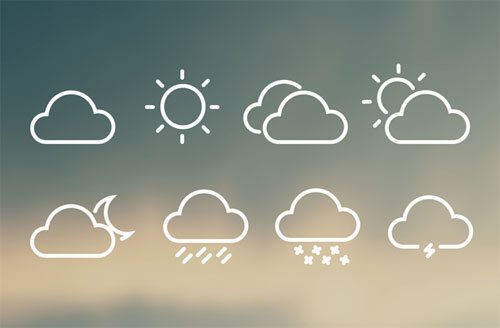 8 FREE Weather Icons by Peter Finlan