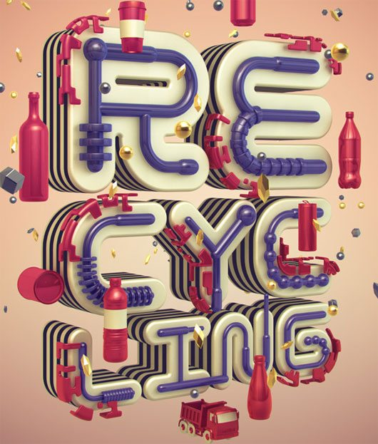 Illustration for Recycling Facility by Shinbone Creative