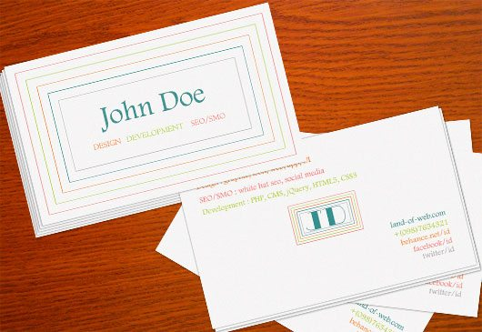 Clean Minimal Business Card PSD Template 2