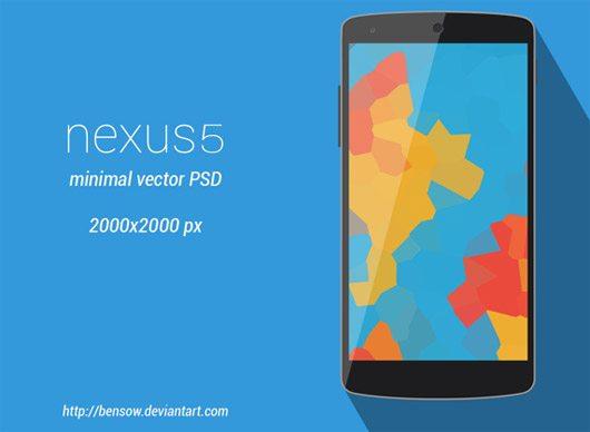 Nexus 5 Vector PSD by Benjamin Sow