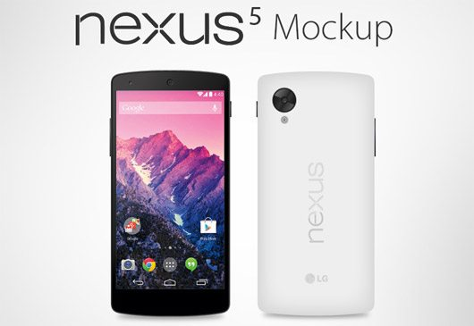 Vector Google Nexus 5 Mockup (Ai, EPS) by Zee Que