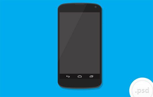 Nexus 4 Vector Mockup by Benjamin Roesner