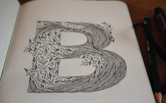 Typography Sketchbook by Meni Chatzipanagiotou