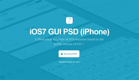 iOS7 GUI PSD (iPhone)