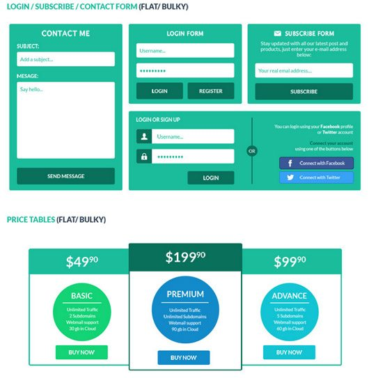 3 in 1 User Interface Elements Kit Part 2